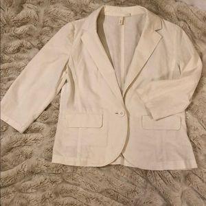 Frenchi off white linen blazer